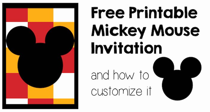 Mickey Mouse Invitation Card Elegant Five Mickey Mouse Free Printables Paper Trail Design