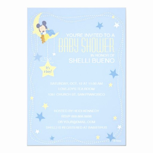 "Mickey Mouse Invitation Card Fresh Baby Mickey Mouse Baby Shower 5"" X 7"" Invitation Card"