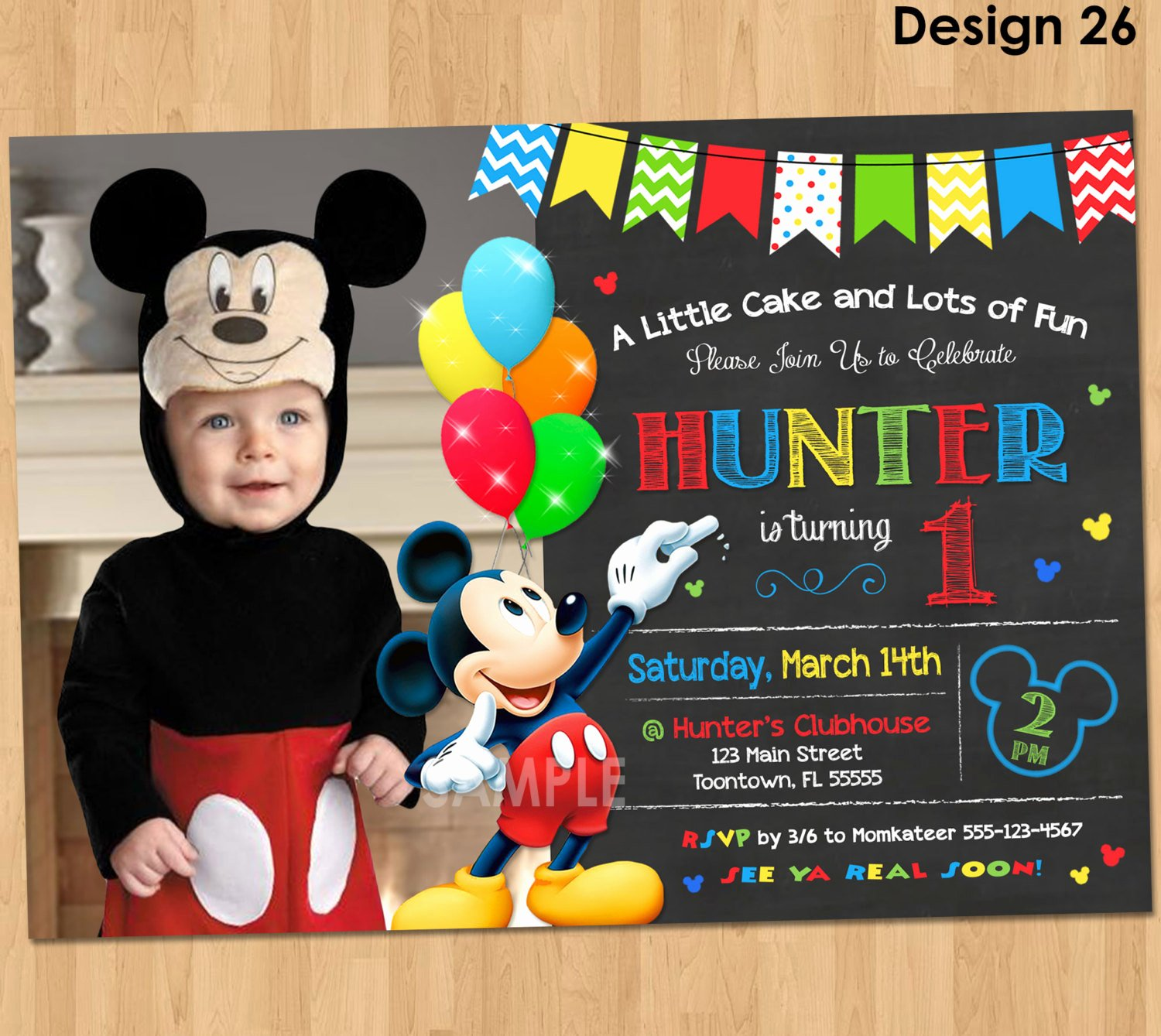 Mickey Mouse Invitation Card Luxury Mickey Mouse Clubhouse Invitations for Special Birthday