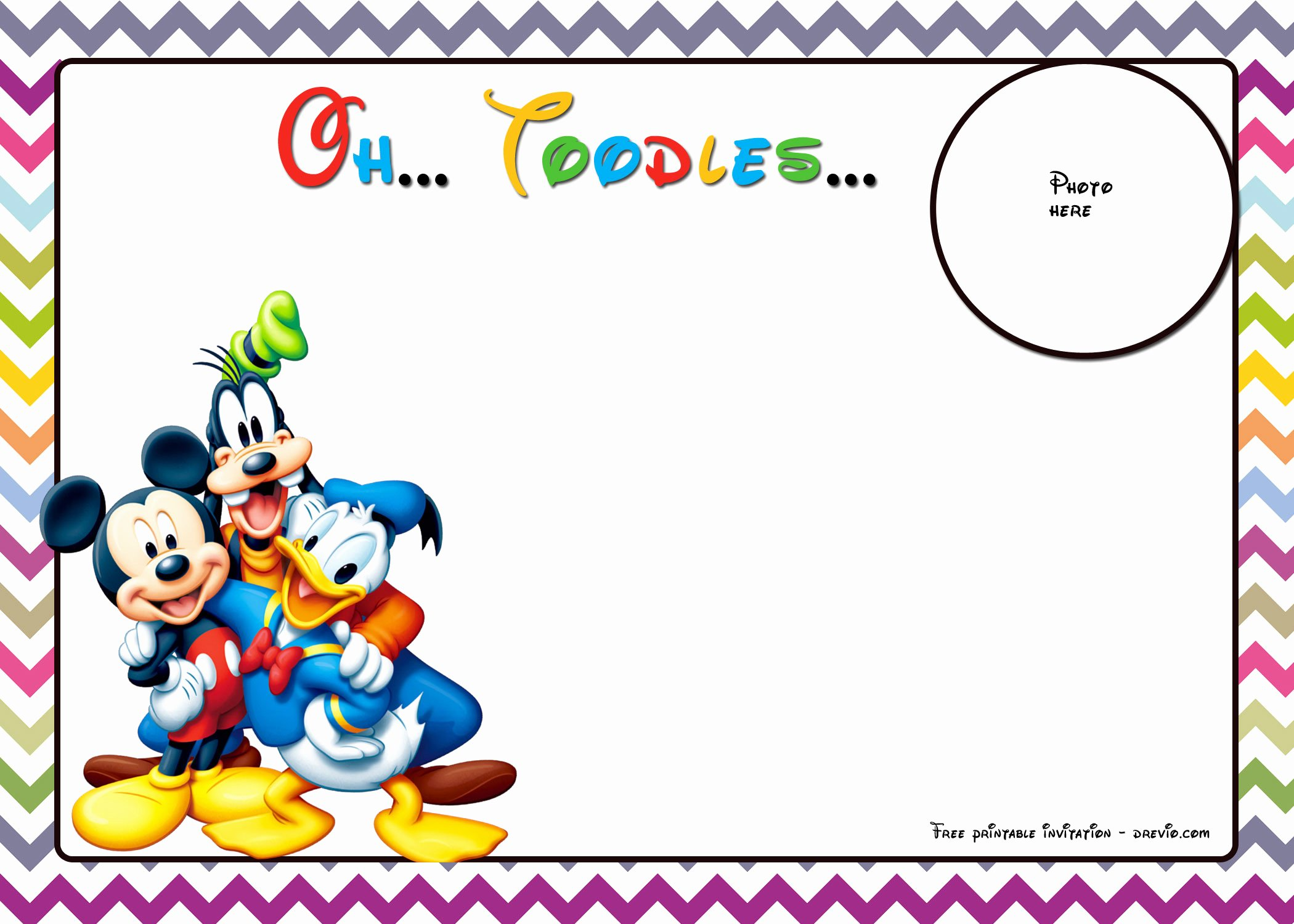 Mickey Mouse Invitation Maker Awesome Free Mickey Mouse and Friends Invitation Template – Free