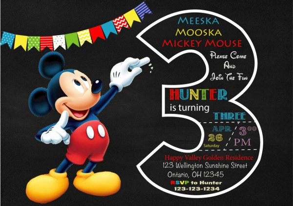 Mickey Mouse Invitation Maker Beautiful 9 Mickey Mouse Invitations Free Psd Jpg Vector format