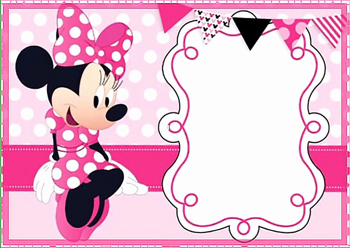 Mickey Mouse Invitation Maker Beautiful Printable Minnie Mouse Birthday Party Invitation Template