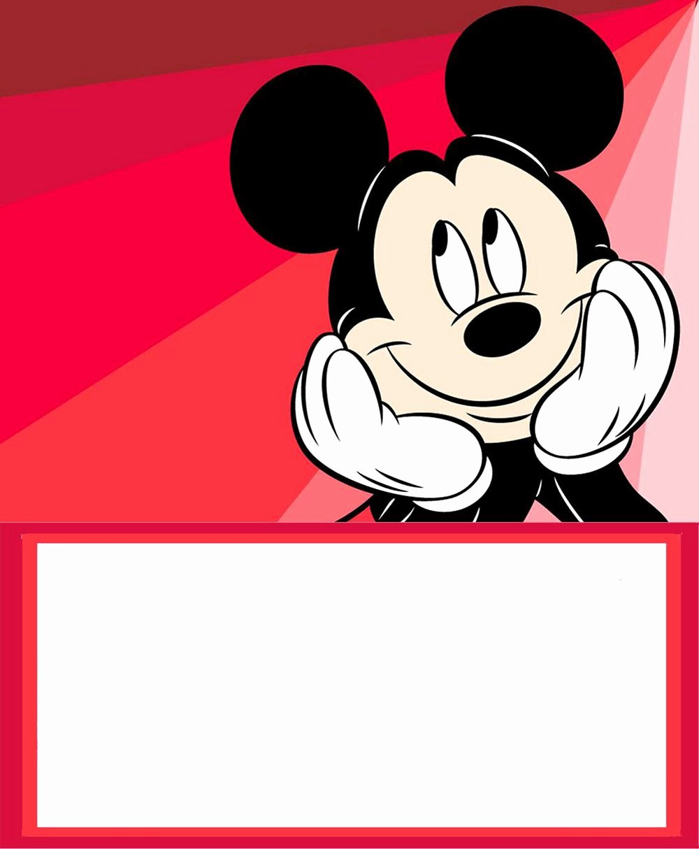 Mickey Mouse Invitation Maker Best Of Mickey Mouse Free Printable Invitation Templates