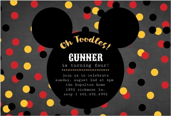 Mickey Mouse Invitation Maker Elegant Mickey Mouse Birthday Party Ideas Wording Activities