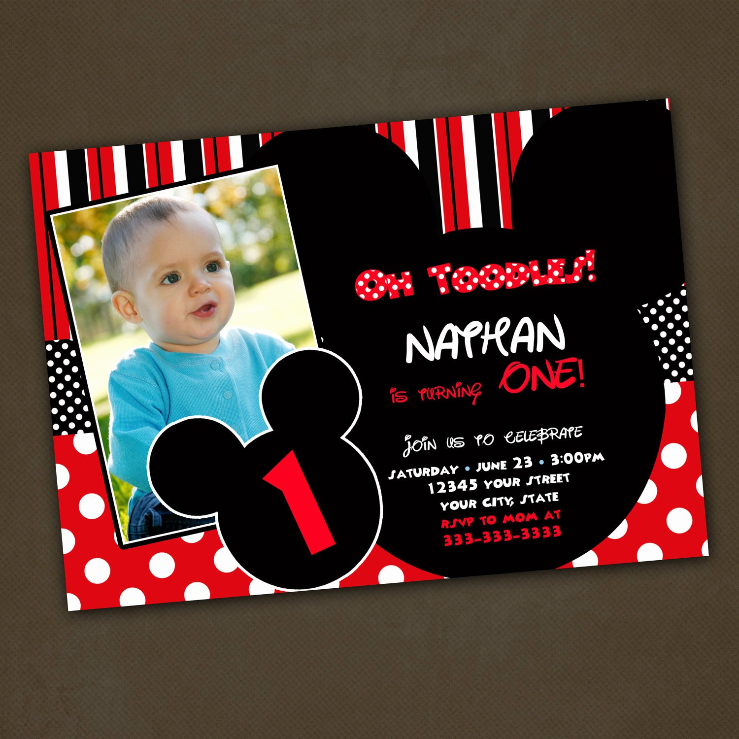 Mickey Mouse Invitation Maker Fresh Unavailable Listing On Etsy