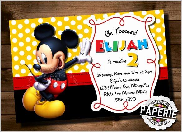 Mickey Mouse Invitation Maker Inspirational Mickey Mouse Invitation Templates – 26 Free Psd Vector