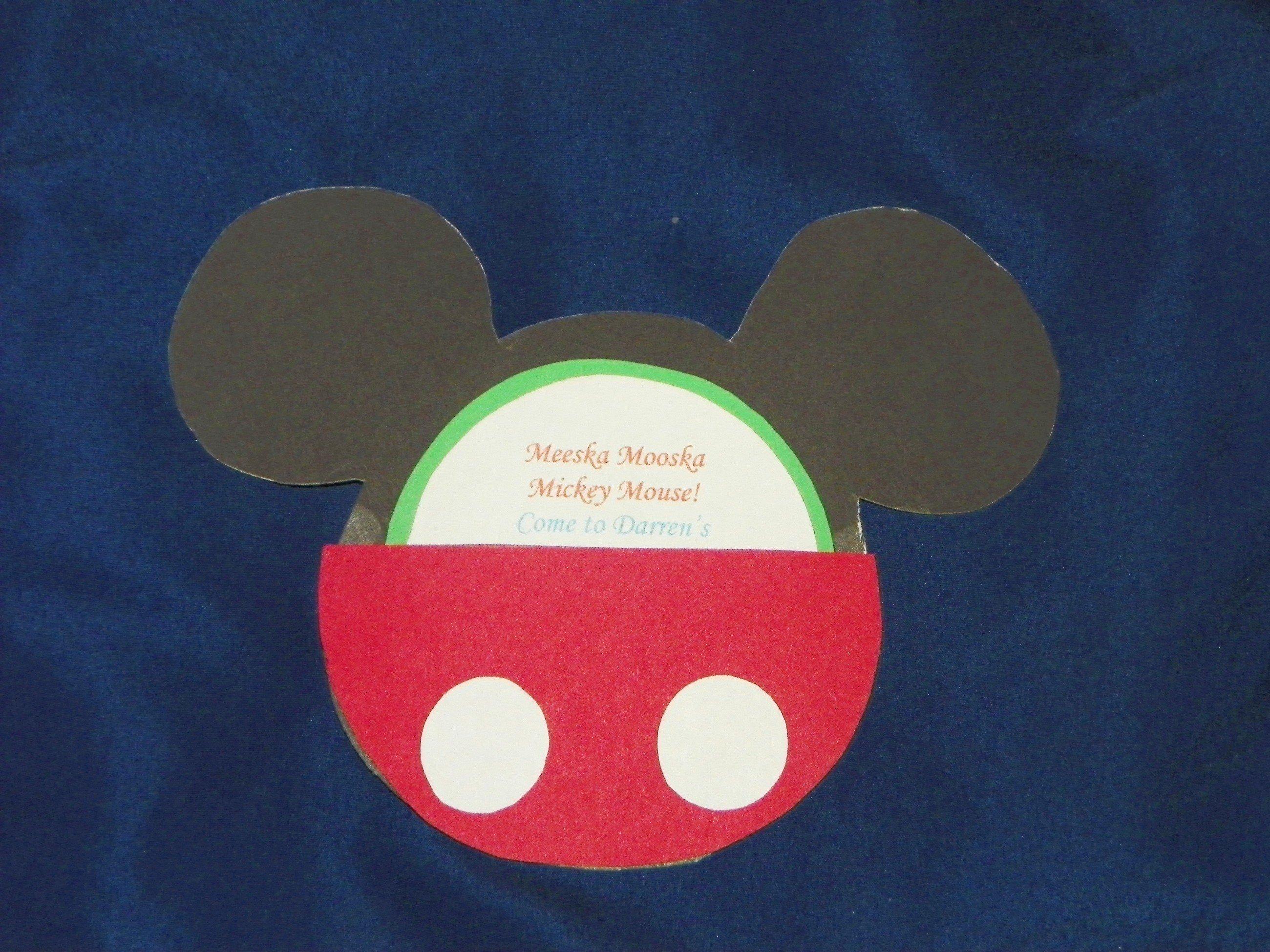 Mickey Mouse Invitation Maker Inspirational Mickey Mouse Invitations · How to Make An Invitation Card