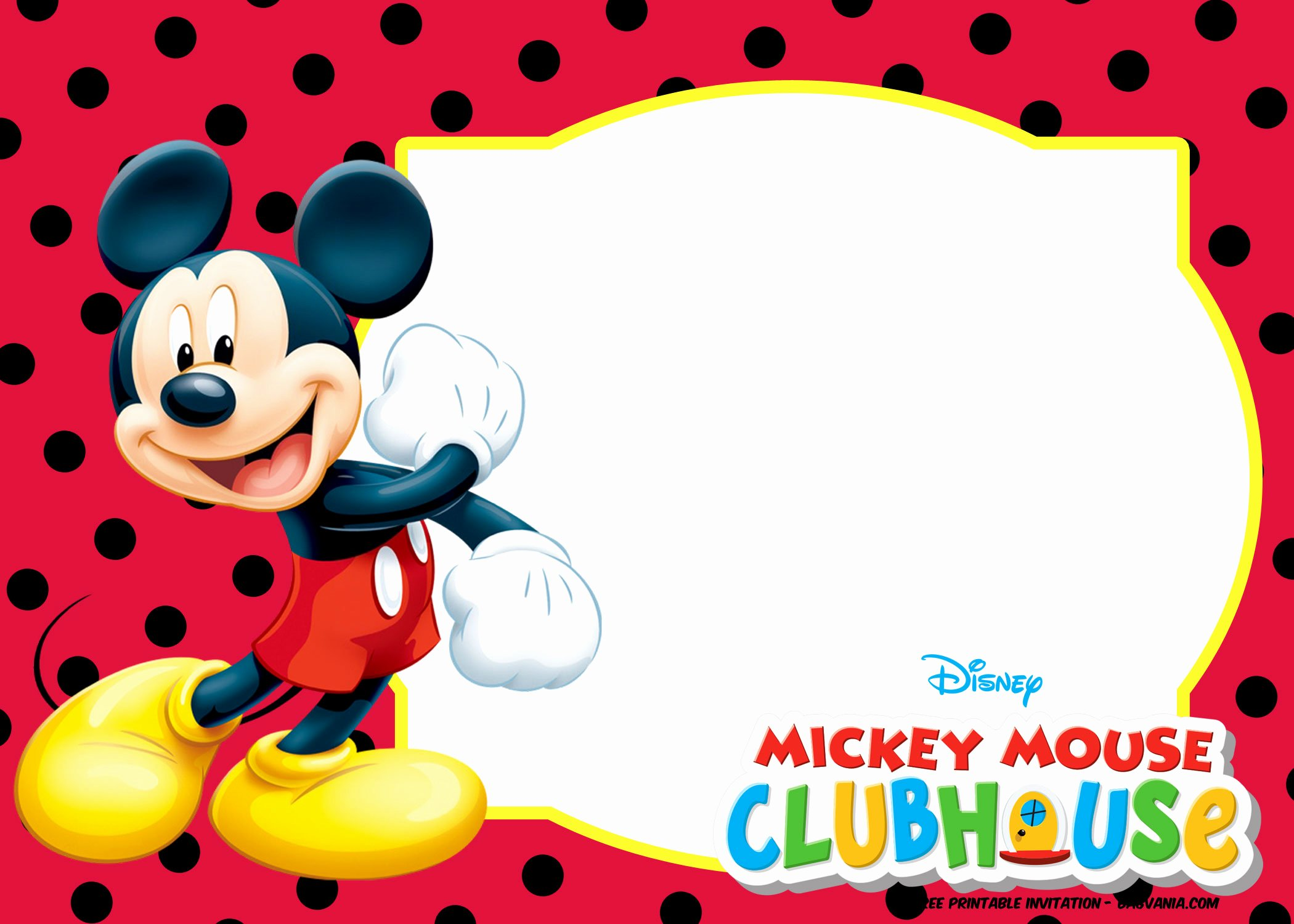 Mickey Mouse Invitation Maker New Free Mickey Mouse and Friends Invitation Template – Free