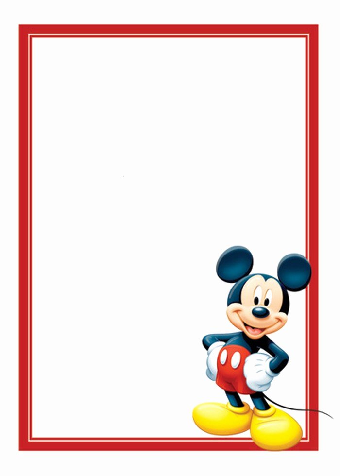 Mickey Mouse Invitation Template Lovely Free Mickey Mouse Invitations Template
