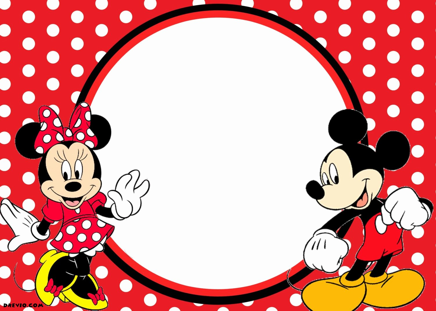 Mickey Mouse Invitation Template Lovely Free Printable 1st Mickey and Minnie Invitation – Free