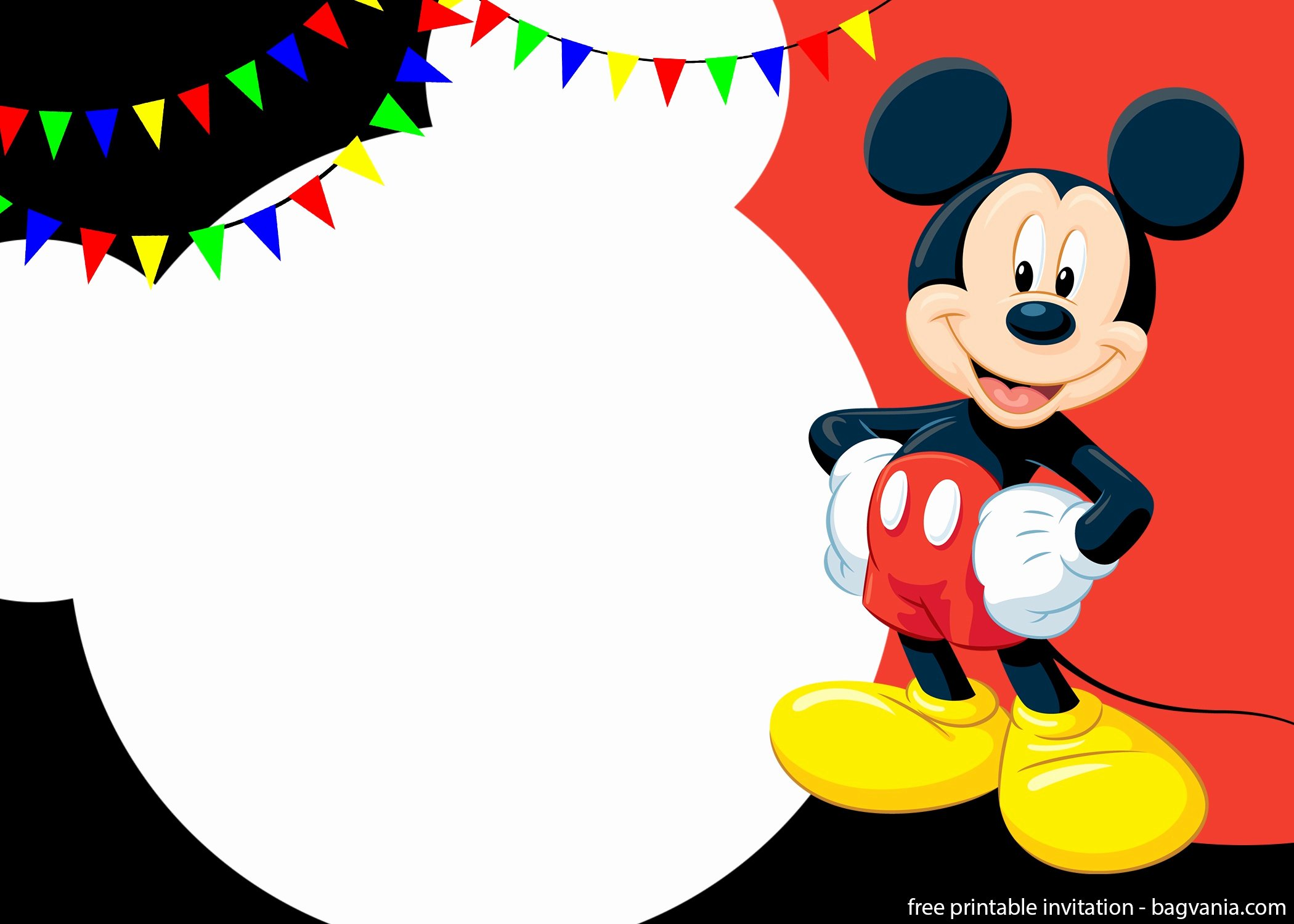 Mickey Mouse Invitation Template Unique Free Printable Cute Mickey Mouse Invitation Templates