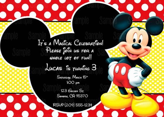 Mickey Mouse Invitation Template Unique Printable Mickey Mouse Invitation Plus Free Blank Matching