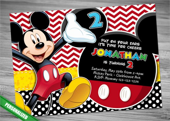Mickey Mouse Invitation Wording Awesome Sample Mickey Mouse Invitation Template 13 Download