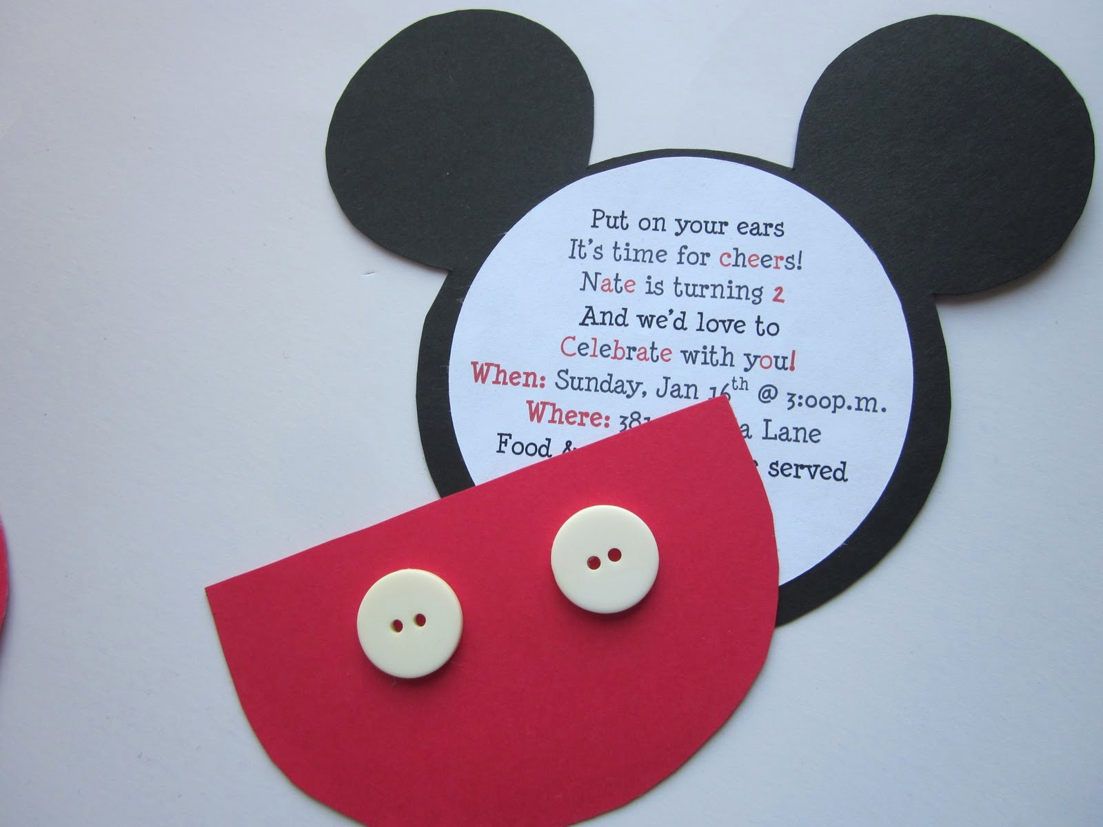 Mickey Mouse Invitation Wording Best Of Embellishing Life Mickey Birthday Invitations
