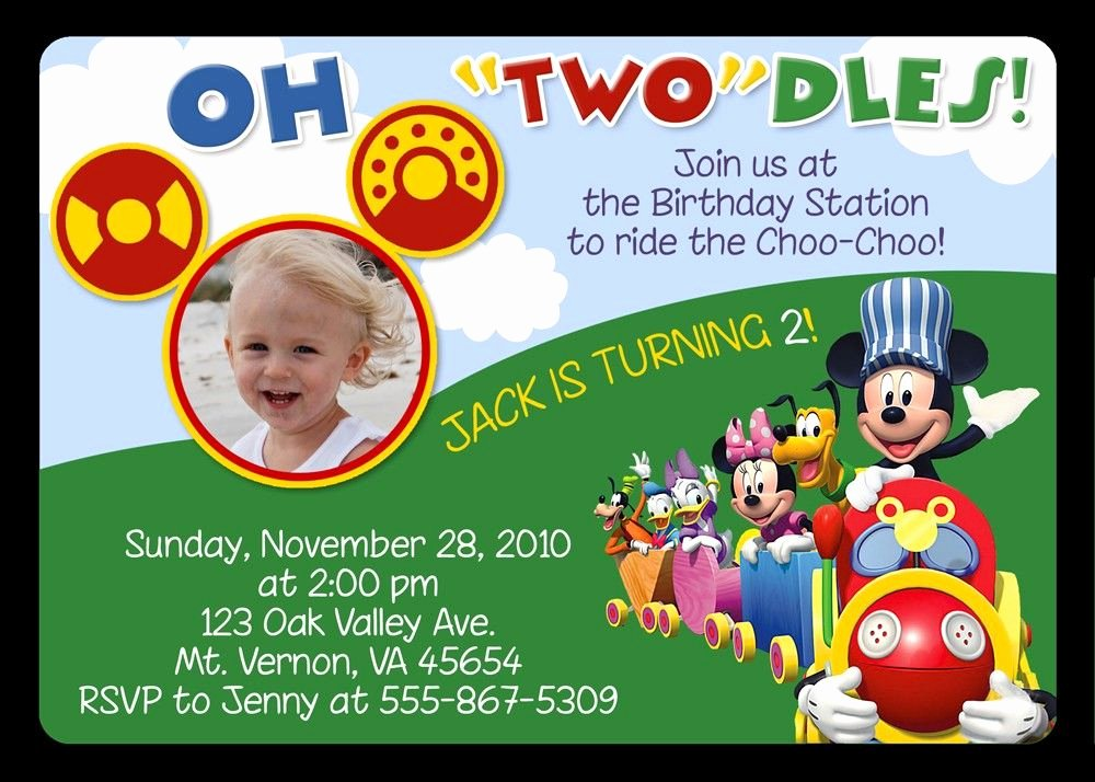 Mickey Mouse Invitation Wording Best Of Mickey Mouse Invitations Birthday Party Invitations
