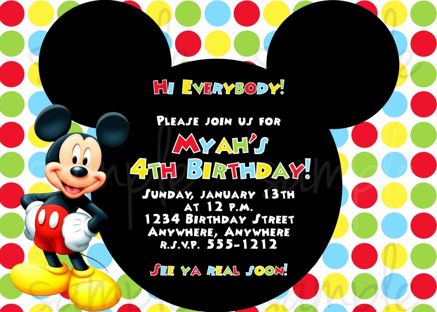 Mickey Mouse Invitation Wording Inspirational Birthday Invitation Mickey Mouse Birthday Invitations