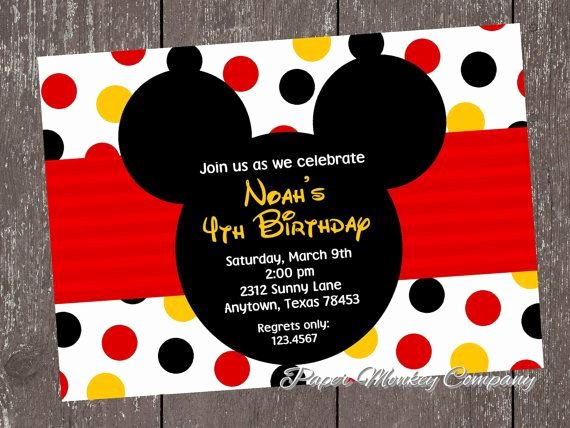 Mickey Mouse Invitation Wording Unique 25 Best Ideas About Mickey Mouse Invitation On Pinterest