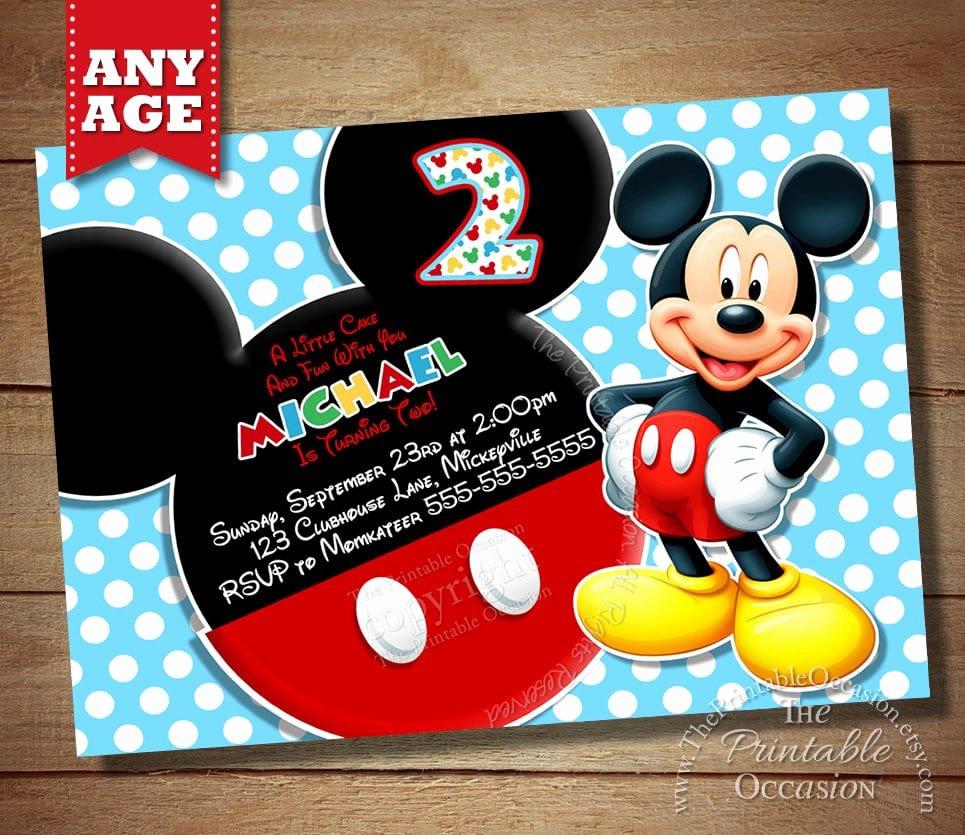Mickey Mouse Invitations Free Beautiful Mickey Birthday Invitation Free