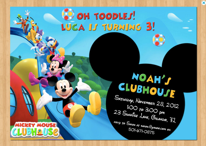 Mickey Mouse Invitations Free Lovely Mickey Mouse Clubhouse Invitations for Special Birthday