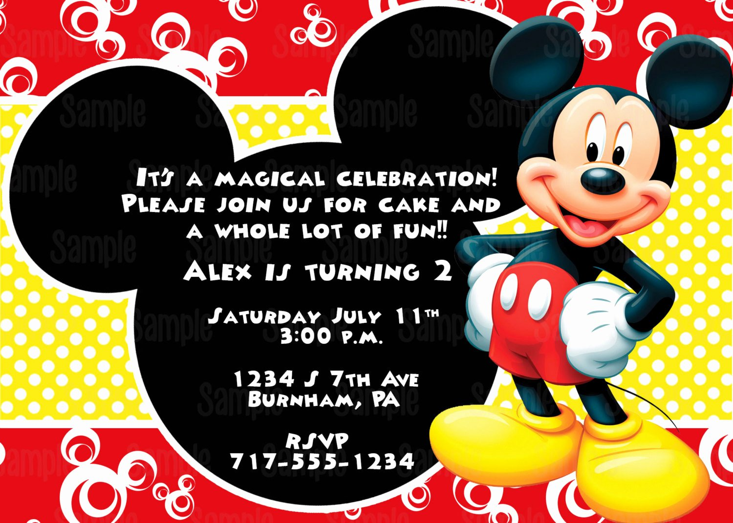 Mickey Mouse Invitations Free Luxury Printable Mickey Mouse Invitation Plus Free Blank Matching