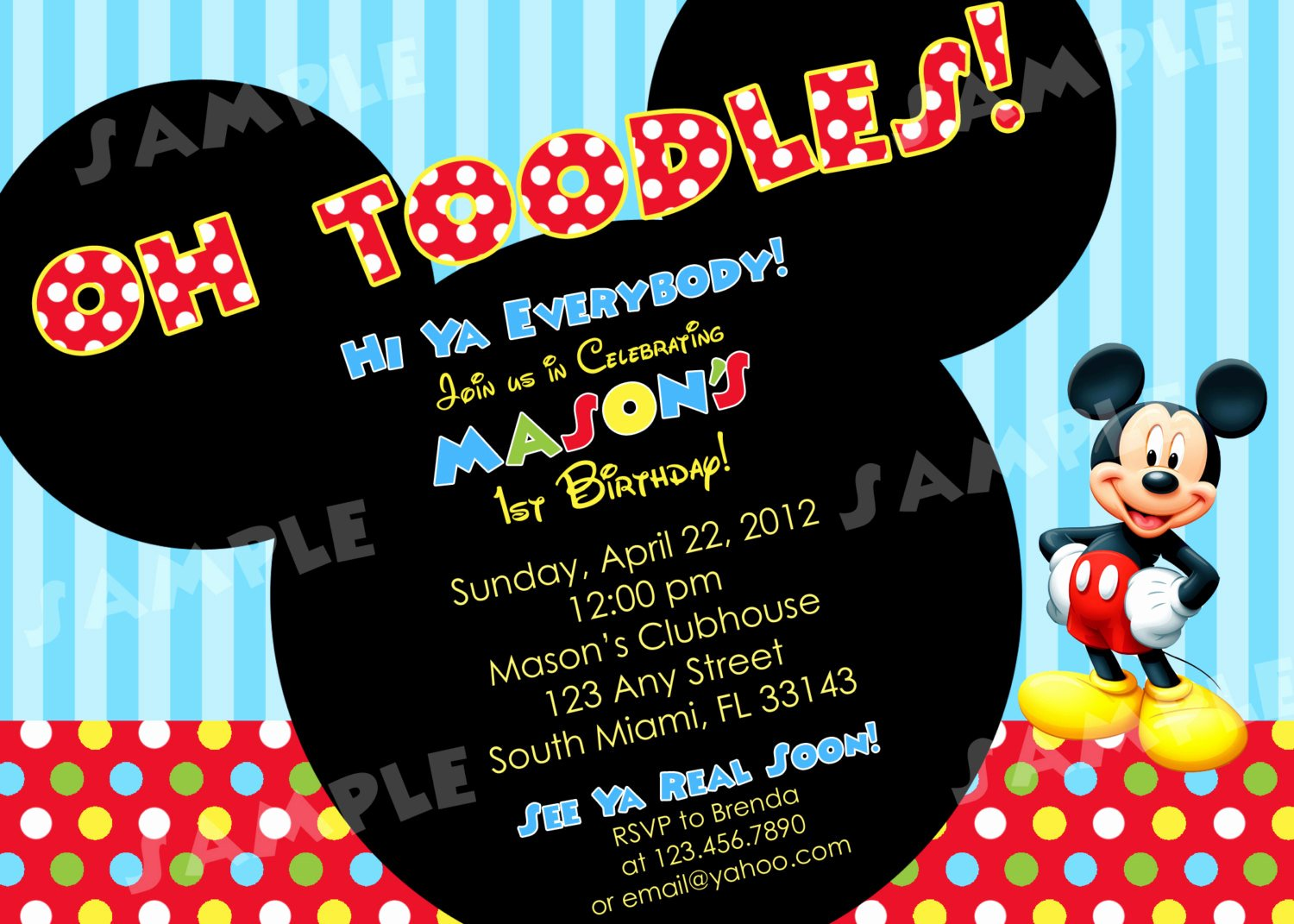 Mickey Mouse Invitations Free New Free Printable Mickey Mouse Invitatons Birthday