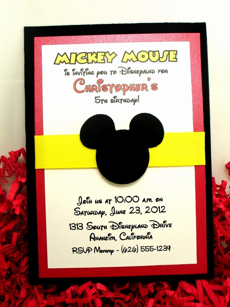 Mickey Mouse Invitations Wording Awesome 1000 Ideas About Mickey Invitations On Pinterest