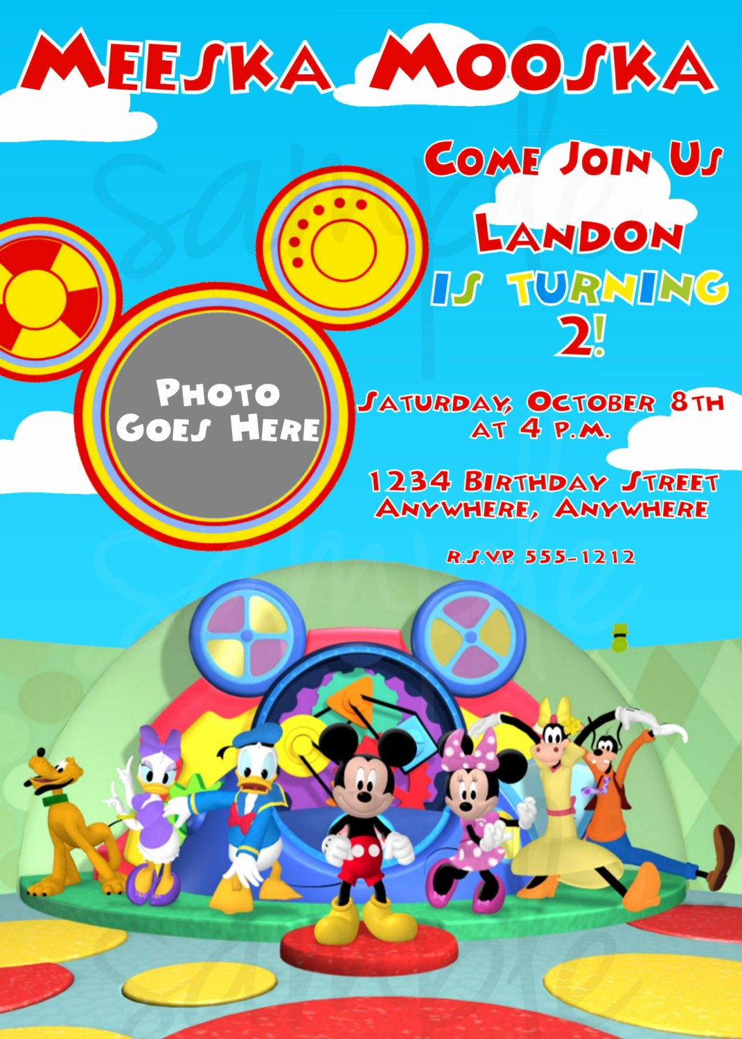 Mickey Mouse Invitations Wording Awesome Mickey Mouse Clubhouse Birthday Invitation