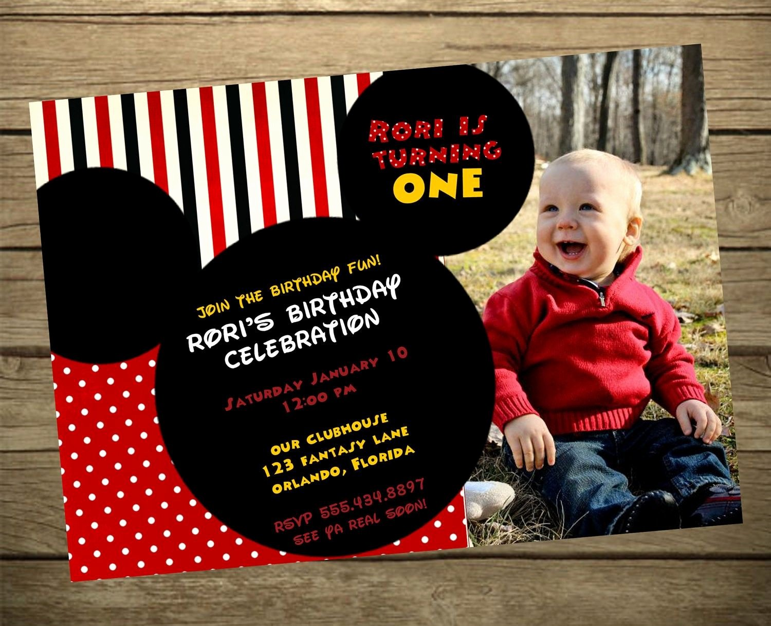 Mickey Mouse Invitations Wording Beautiful Mickey Mouse Clubhouse Birthday Party Invitation Wording