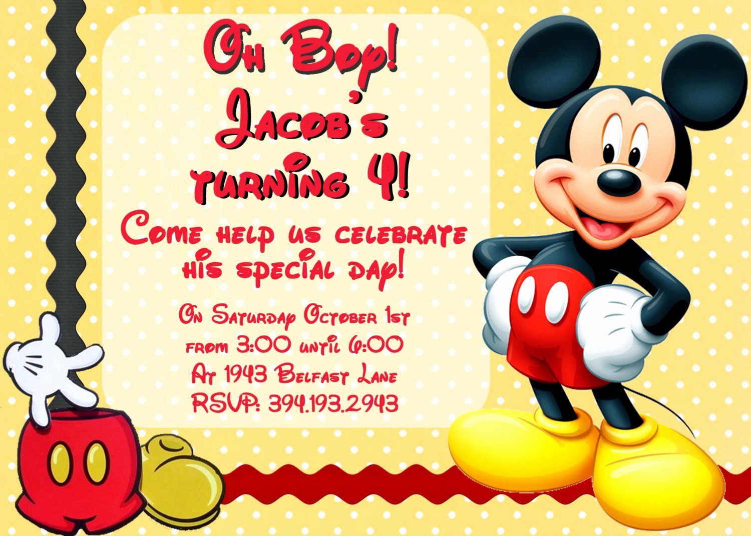 Mickey Mouse Invitations Wording Beautiful Mickey Mouse Invitation Wording
