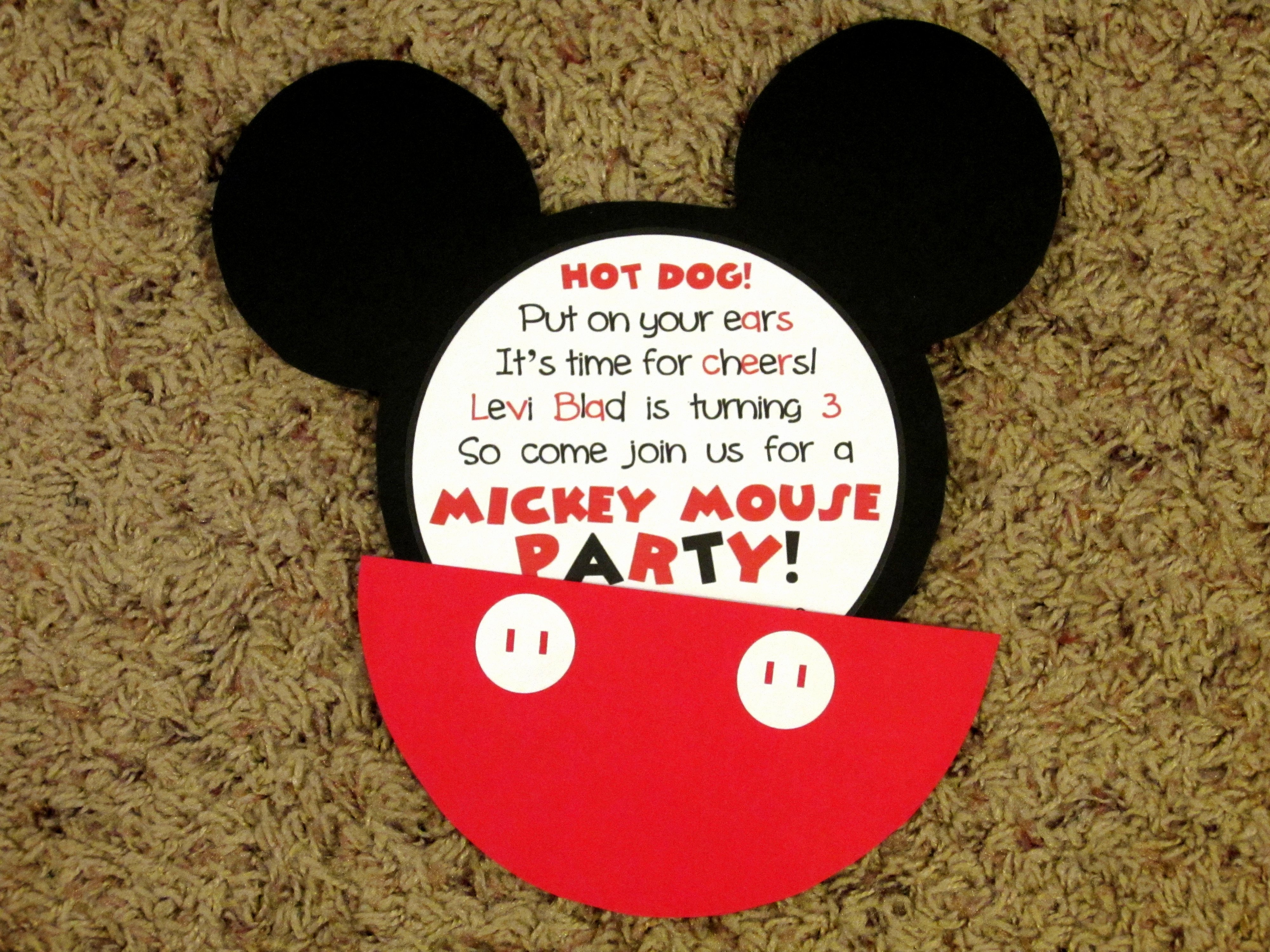 Mickey Mouse Invitations Wording Beautiful Mickey Mouse Invitations Love to Be In the Kitchen