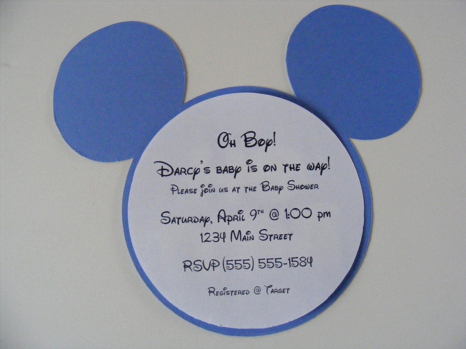 Mickey Mouse Invitations Wording Elegant Mickey Mouse Baby Shower Invitation Design
