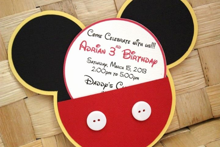 Mickey Mouse Invitations Wording Inspirational Handmade Mickey Mouse Invitations for Birthdays Baby