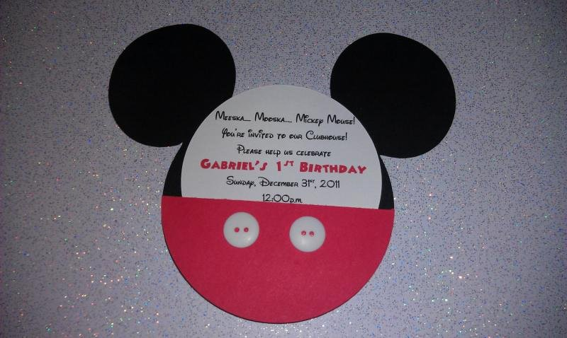 Mickey Mouse Invitations Wording Luxury Mickey Mouse Bday Invitation Sample