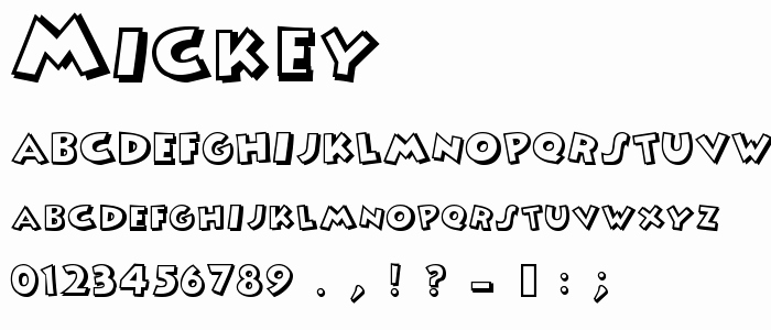 Mickey Mouse Letters Font Awesome Mickey Free Font Download Font Supply