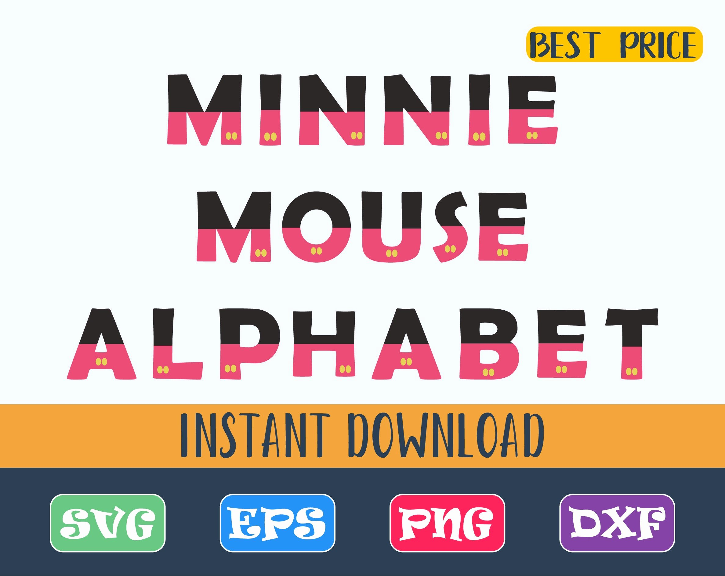 Mickey Mouse Letters Font Elegant Minnie Mouse Alphabet Font Svg Mickey Mouse Letters Svg