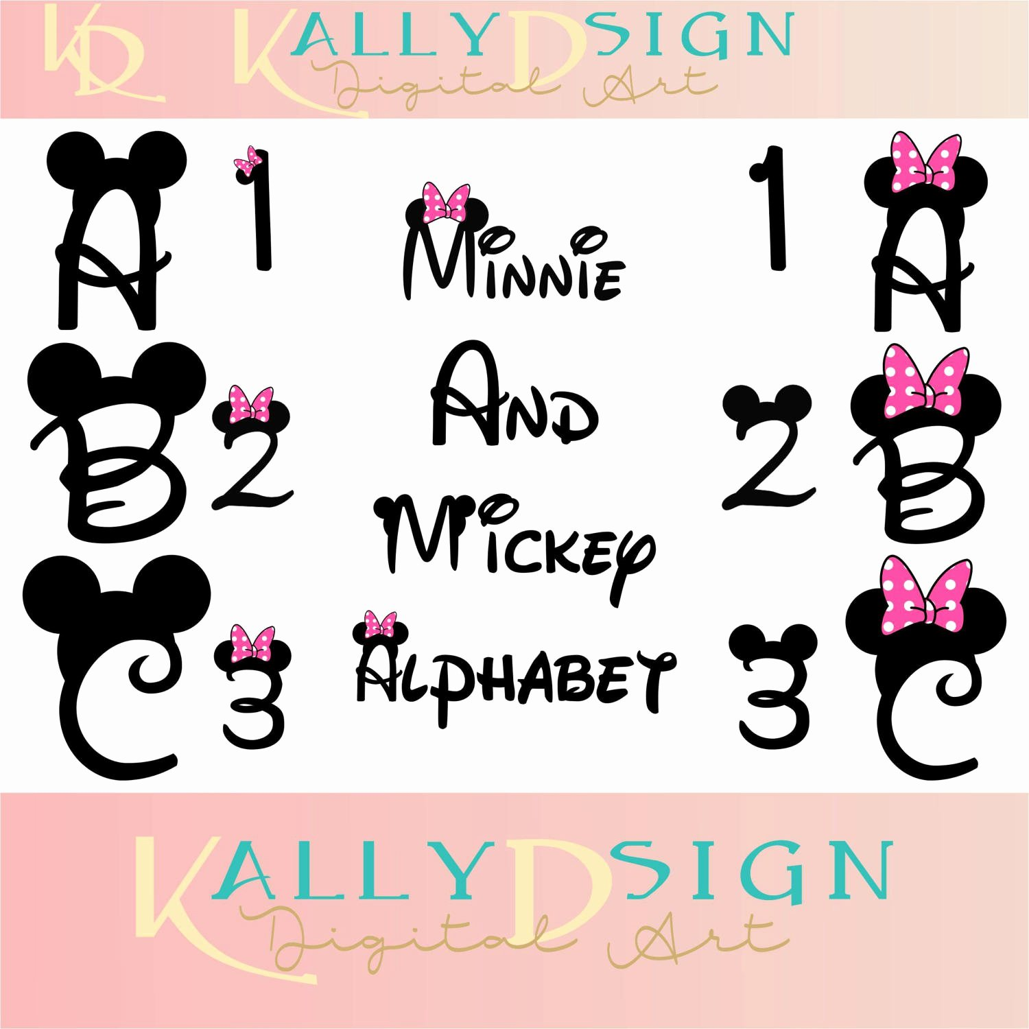 Mickey Mouse Letters Font Fresh Mickey Ears Disney Svg Svg Files Alphabet Letters Minnie