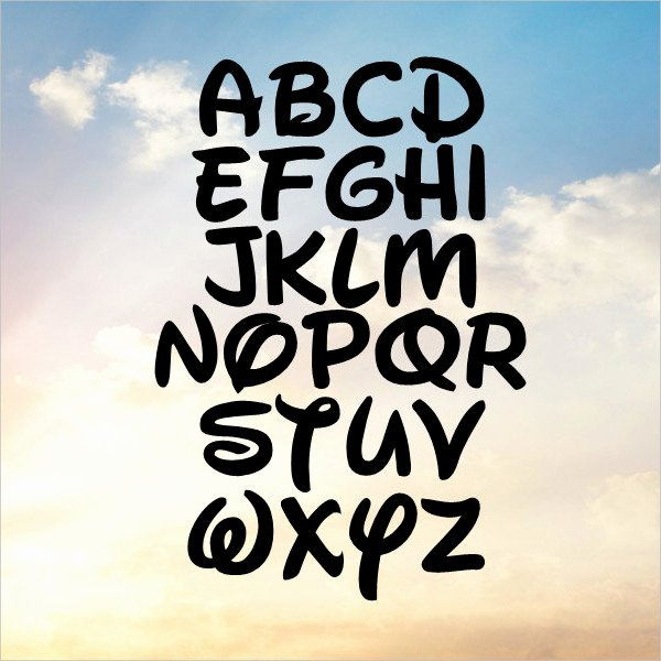 Mickey Mouse Letters Font Luxury 14 Mickey Mouse Fonts Free Ttf Otf format Download