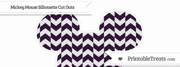 Mickey Mouse Pattern Cut Out Awesome Dark Purple Herringbone Pattern Extra Mickey Mouse