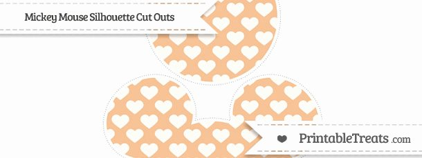 Mickey Mouse Pattern Cut Out Awesome Pastel orange Heart Pattern Mickey Mouse Silhouette