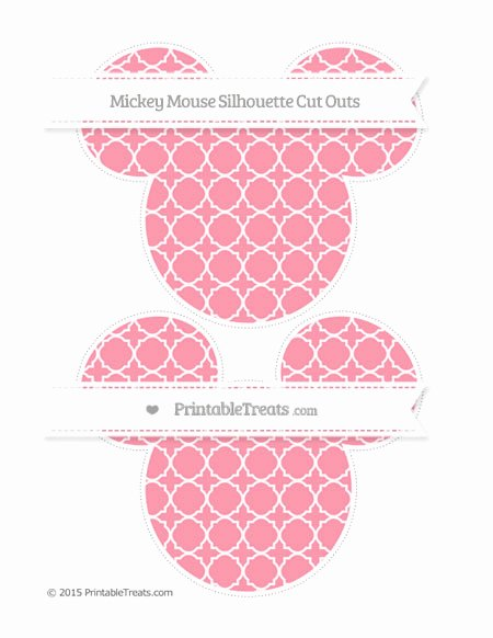 Mickey Mouse Pattern Cut Out Awesome Pastel Pink Quatrefoil Pattern Mickey Mouse