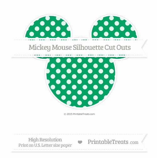 Mickey Mouse Pattern Cut Out Awesome Shamrock Green Dotted Pattern Extra Mickey Mouse