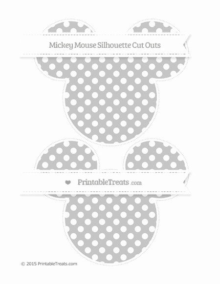 Mickey Mouse Pattern Cut Out Awesome Silver Dotted Pattern Mickey Mouse Silhouette Cut