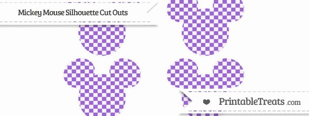Mickey Mouse Pattern Cut Out Beautiful Amethyst Checker Pattern Small Mickey Mouse Silhouette Cut