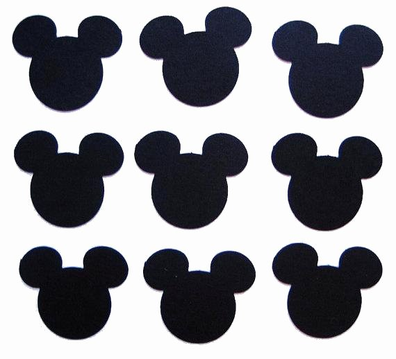 Mickey Mouse Pattern Cut Out Best Of 50 Black Mickey Mouse Punch Cut Cutout Scrapbooking