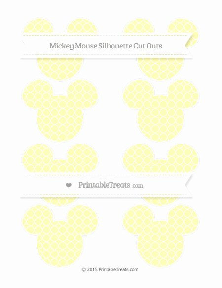 Mickey Mouse Pattern Cut Out Best Of Pastel Light Yellow Quatrefoil Pattern Small Mickey Mouse