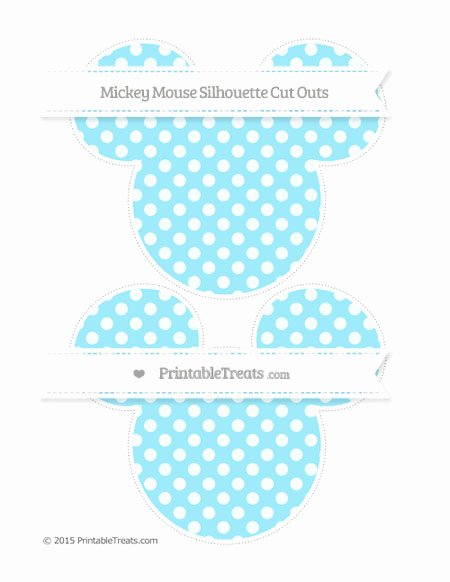 Mickey Mouse Pattern Cut Out Elegant Pastel Aqua Blue Dotted Pattern Mickey Mouse