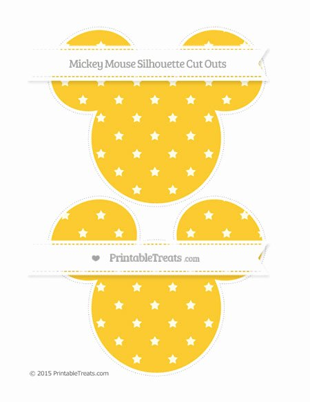 Mickey Mouse Pattern Cut Out Inspirational Saffron Yellow Star Pattern Mickey Mouse Silhouette