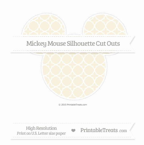 Mickey Mouse Pattern Cut Out Lovely Eggshell Quatrefoil Pattern Extra Mickey Mouse