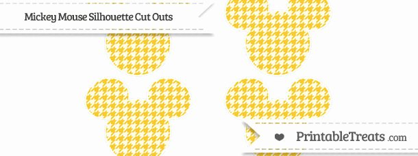 Mickey Mouse Pattern Cut Out Luxury Saffron Yellow Houndstooth Pattern Small Mickey Mouse