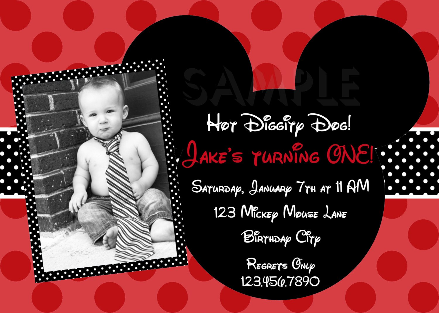 Mickey Mouse Picture Invitations Awesome Free Printable 1st Mickey Mouse Birthday Invitations
